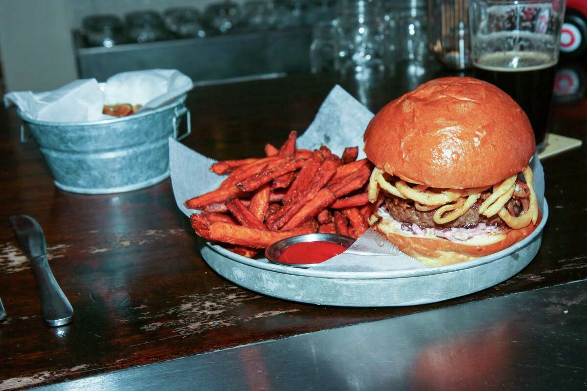 The cowboy burger at Foundry in Sandy Hook.