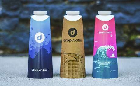 Compostable Drop Water bottles are filled on demand at airport kiosks Photo: Drop Water