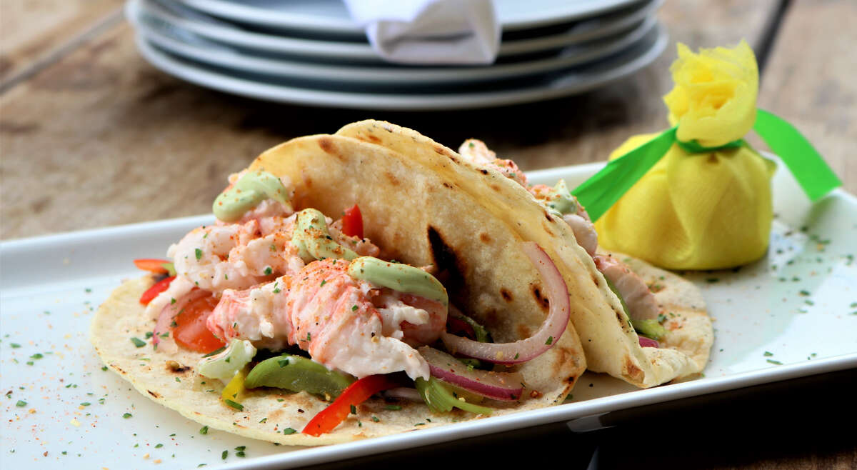 Jonathan's The Rub Memorial Green 12505 Memorial Brunch: Sunday; 10 a.m. to 2 p.m.At Jonathan's the Rub Memorial Green, load up on midday offerings including lobster tacos (pictured), four different Benedict dishes:beef, crab cake, shrimp and salmon, chicken and waffles and more.