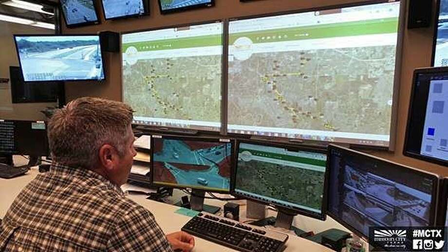 Cameras throughout Missouri City are monitored from the Traffic Management Center located in the Public Works Service Center. The travel map is also designed to guide drivers away from potential delays created by events such as parade road closure, construction or traffic accidents. Photo courtesy City of Missouri City