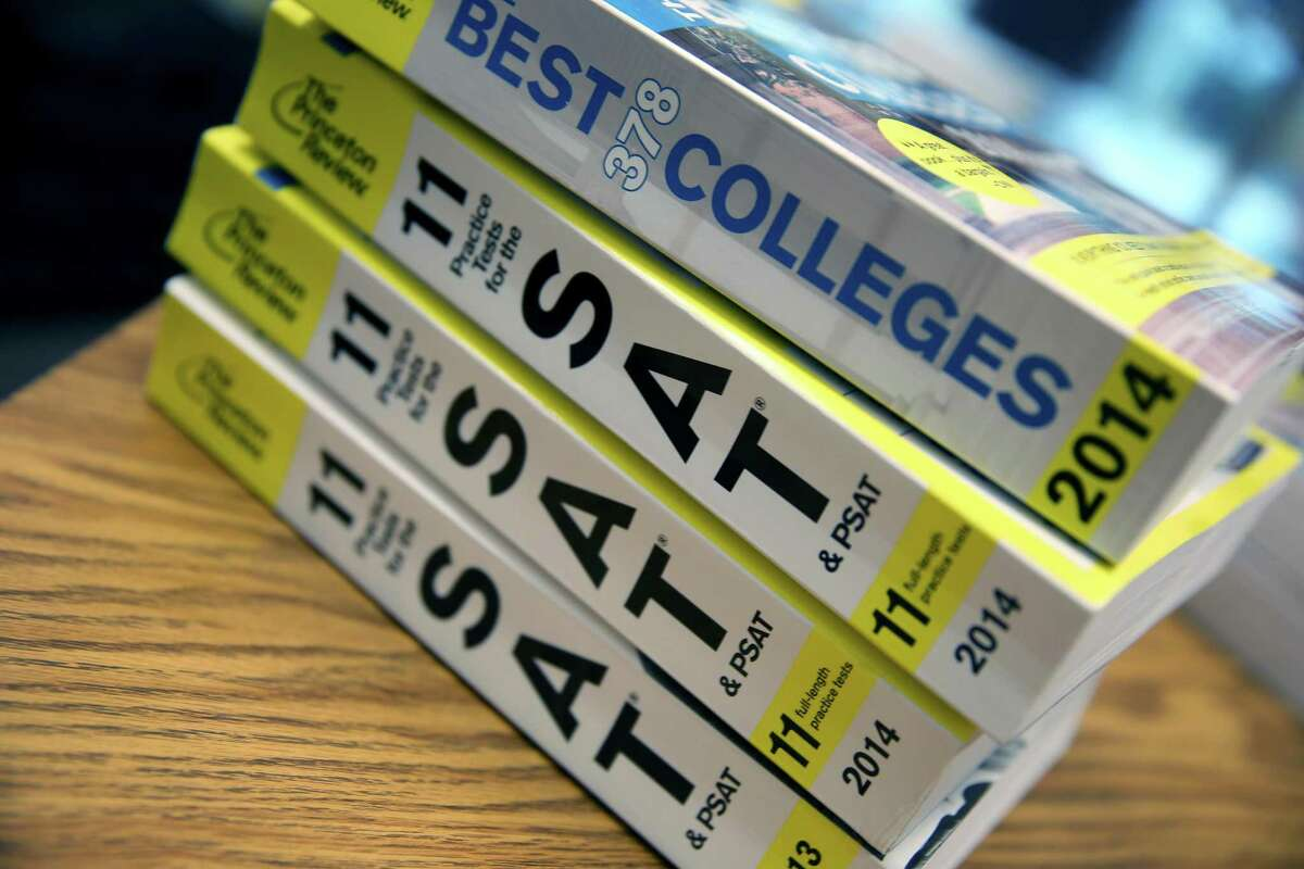 Princeton Review SAT Preparation books are seen on March 6, 2014 in Miami, Florida. The College Board has canceled six SAT sessions, leaving students with fewer chances to take the college-aptitude test widely used in the application process.