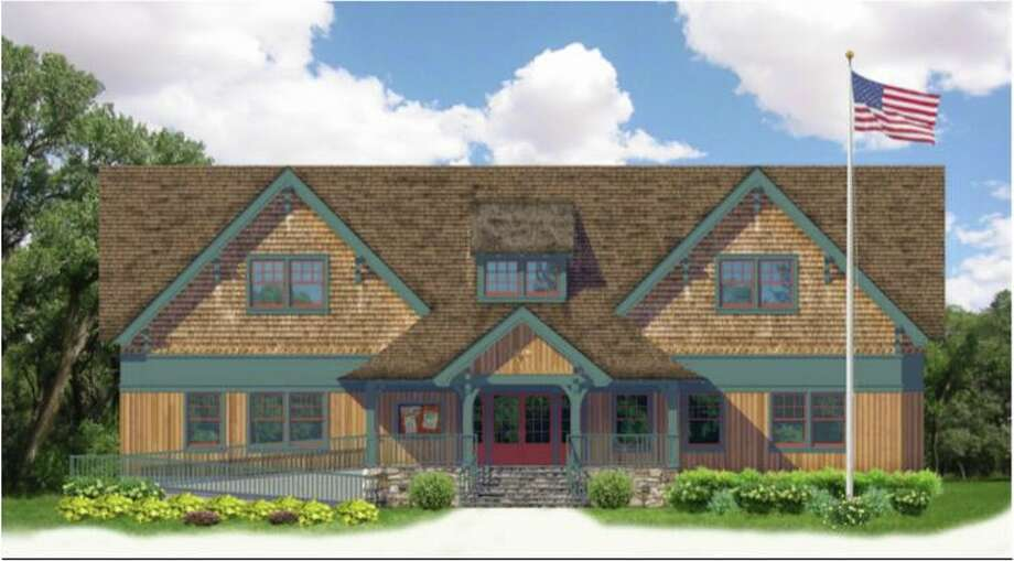 A rendering of the new Boy Scout Cabin to replace the current cabin on West Avenue. Photo: /