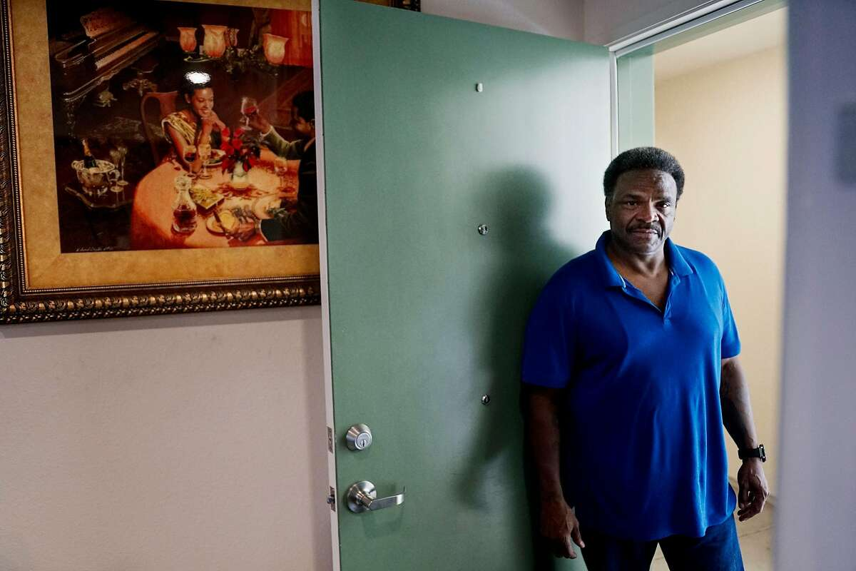 Kent Williams sits at his home in San Diego, CA on Friday, August 2, 2019. Williams, a former inmate, was released in early June after serving 17 years for felony property crimes. In 2003, he was sentenced to 50-years-to-life in prison for burglarizing two homes and stealing a car. He is the first former inmate has been released from prison under a new California law that allows prosecutors to review sentences they consider unjustly harsh. AB2942, by San Francisco Assemblyman Phil Ting, allows district attorneys to recommend a lesser sentence to a judge.
