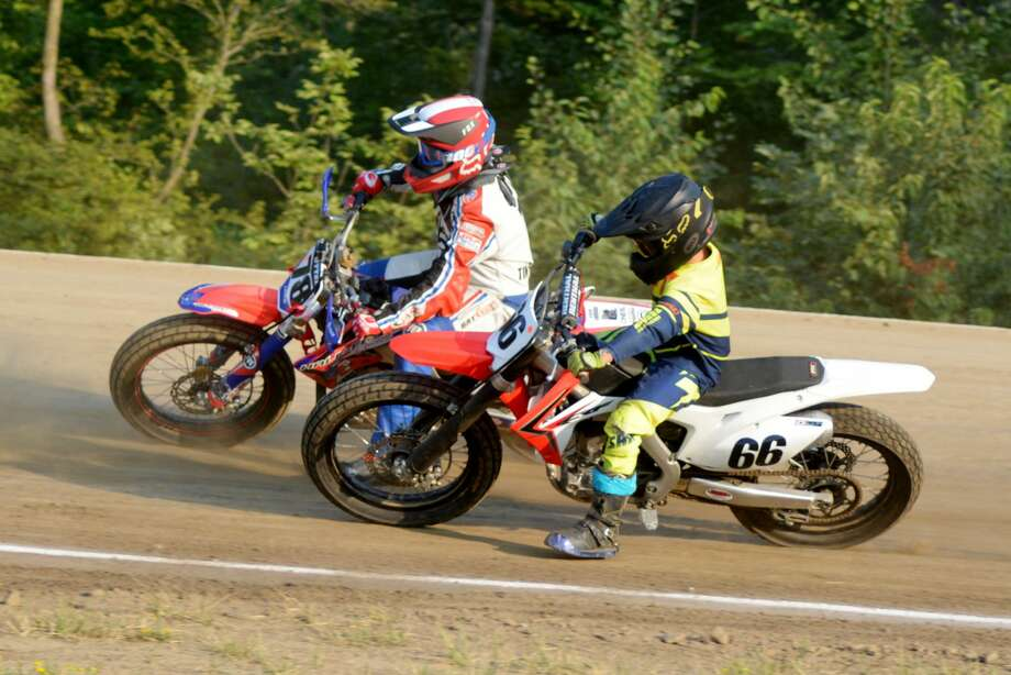 Riders compete in the Lucky Thumb Motorcycle Club races in Deford. Photo: Contributed