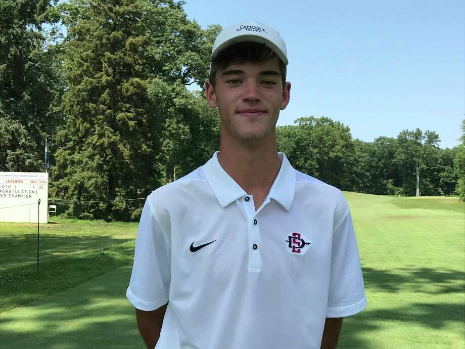 Jack Heath of Charlotte, N.C. won the Boys Junior PGA Championship at Keney Park Golf Course in Windsor on Friday. Photo: David Fierro /Hearst Connecticut Media