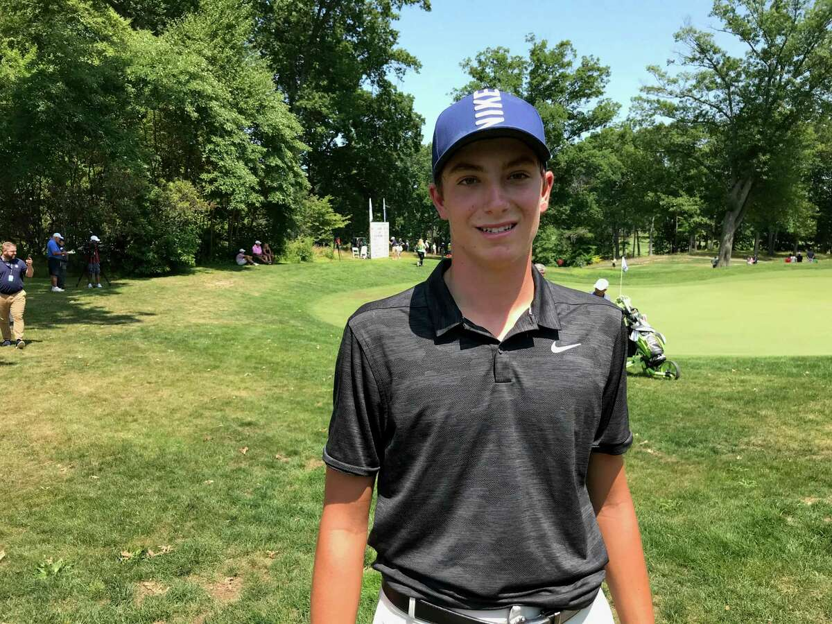 Ben James of Milford finished in a tie for ninth at the Boys Junior PGA Championship on Friday at Keney Park Golf Course.
