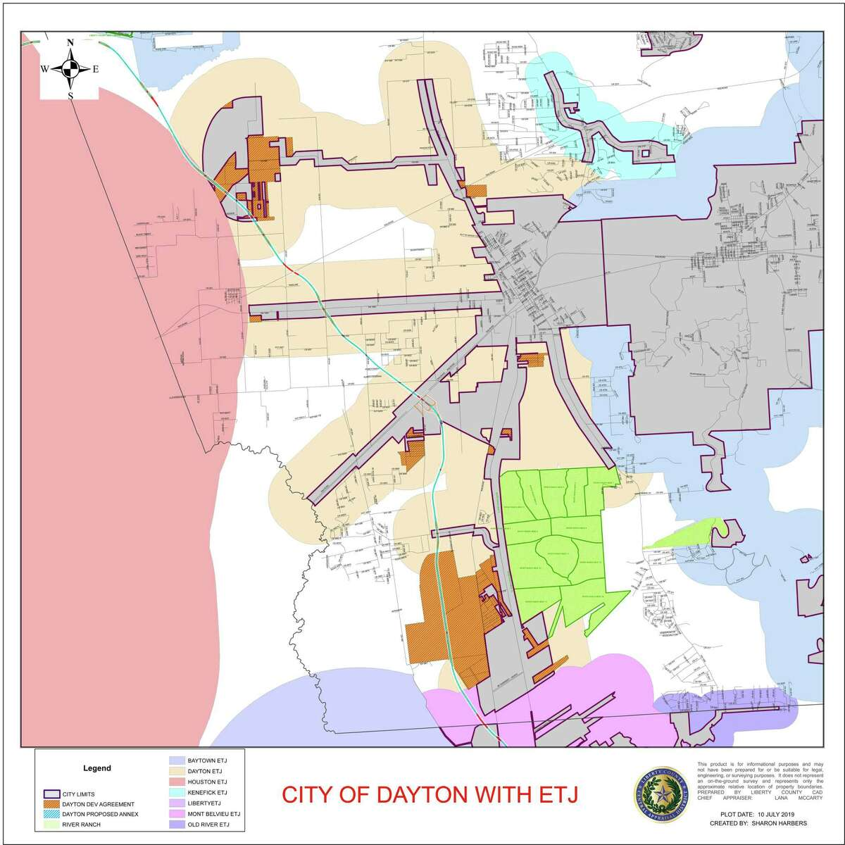 This map from the city of Dayton Development office shows the location of the mammoth master-planned community set for a groundbreaking on Sept. 10 at 11 a.m.