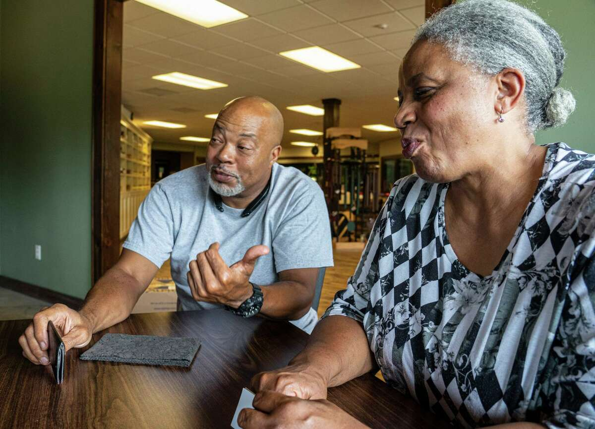 """Cousins Anthony """"Dondo"""" Upshaw and Beatrice Upshaw see Uncle Doug's as an expression of rural values they learned growing up in nearby County Line, a """"freedom colony"""" founded by their forebears in the 1870s."""