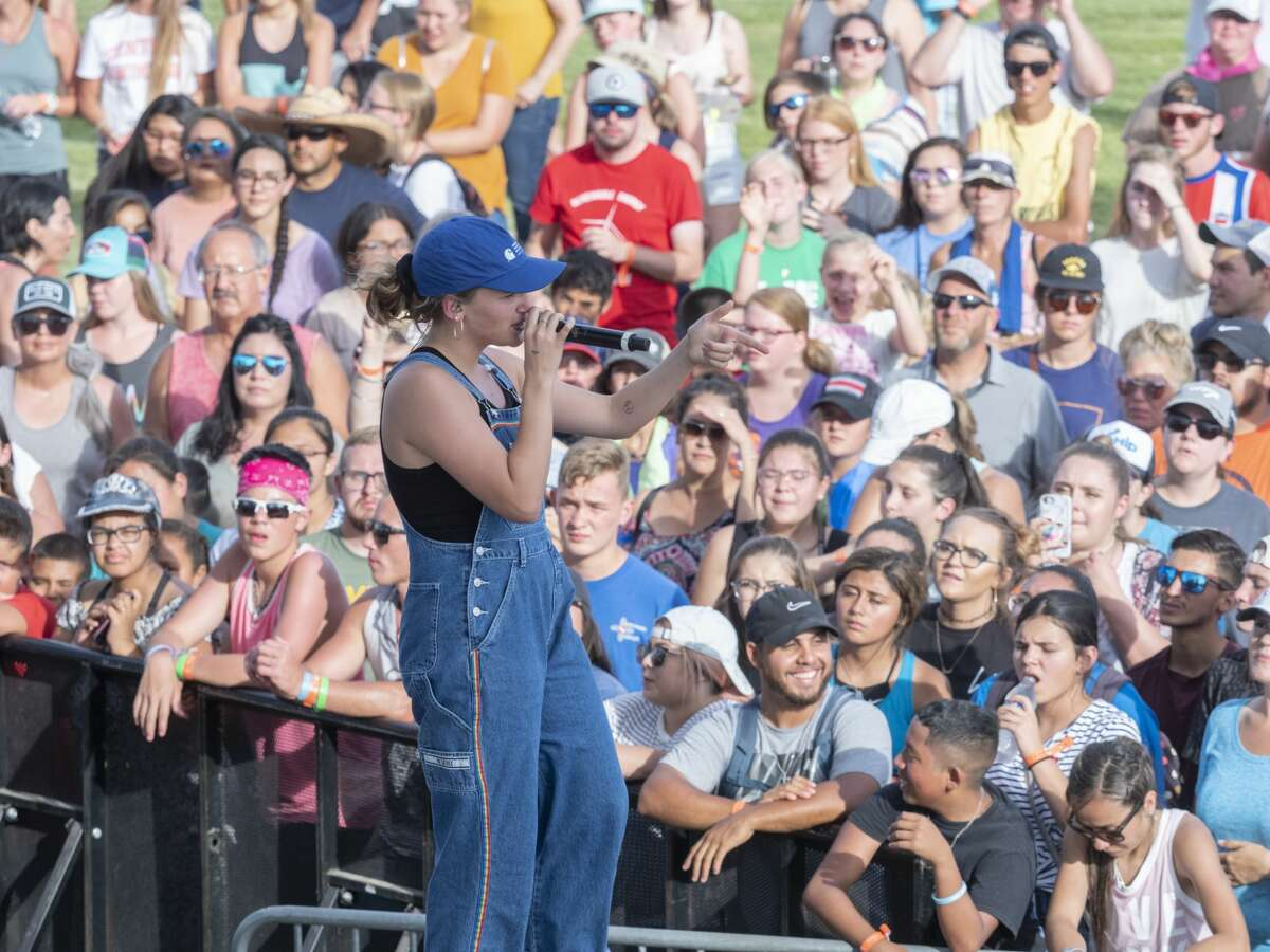 Members of Hollyn perform 08/02/19 on the main stage at Rock the Desert. Tim Fischer/Reporter-Telegram