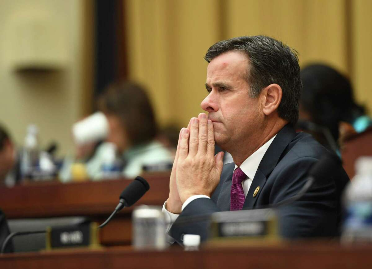 (FILES) In this file photo taken on July 24, 2019 US Representative John Ratcliffe, Republican of Texas, listens as former Special Counsel Robert Mueller testifies in Washington, DC. - US President Donald Trump said August 2, 2019, that Congressman John Ratcliffe, his nominee to be the next Director of National Intelligence, was withdrawing from consideration. Trump said he would announce a new nominee