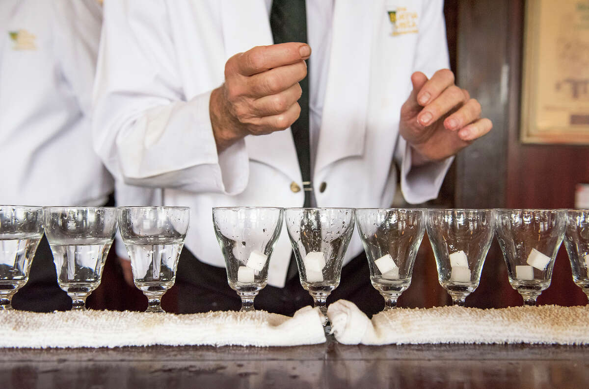 File photo of a bartender making Irish coffees at the Buena Vista Cafe.