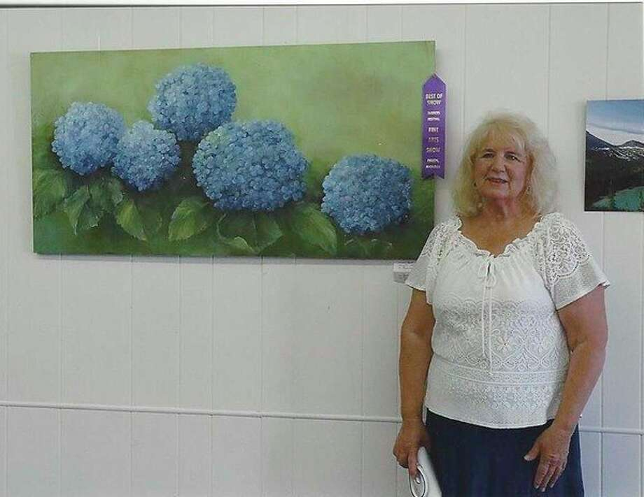 The Best of Show art winner that was chosen by the public is by Sandra Daskam. Her artwork is called Hydrangeas. (Submitted Photo)