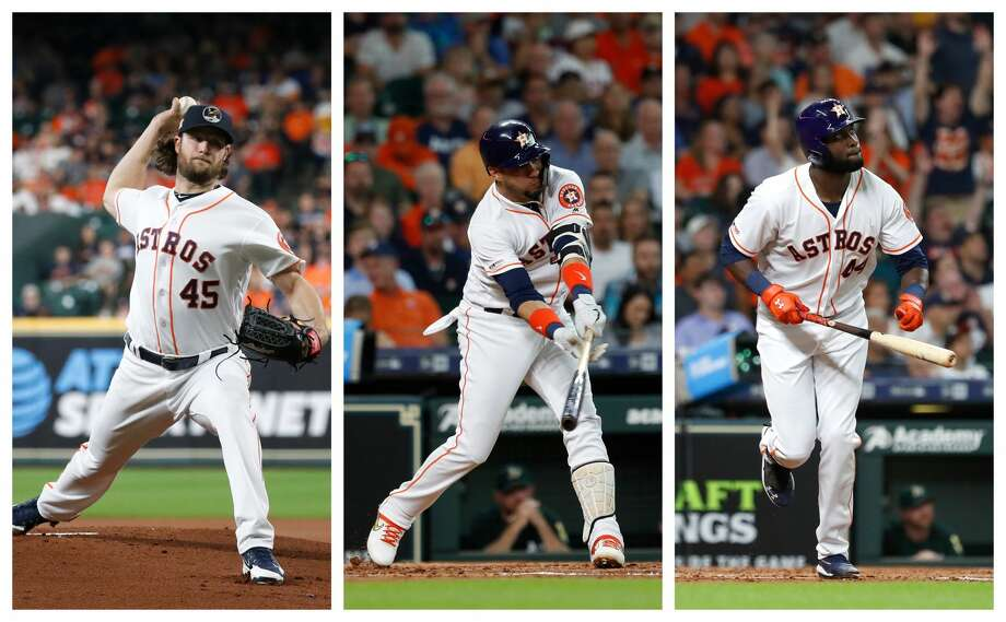 PHOTOS: Everything you should know about Astros ace Zack Greinke Astros stars Gerrit Cole, Yuli Gurriel and Yordan Alvarez received AL monthly honors for the month of July. >>>Browse through the photos to learn more about the Astros' newest ace ... Photo: Karen Warren/Houston Chronicle