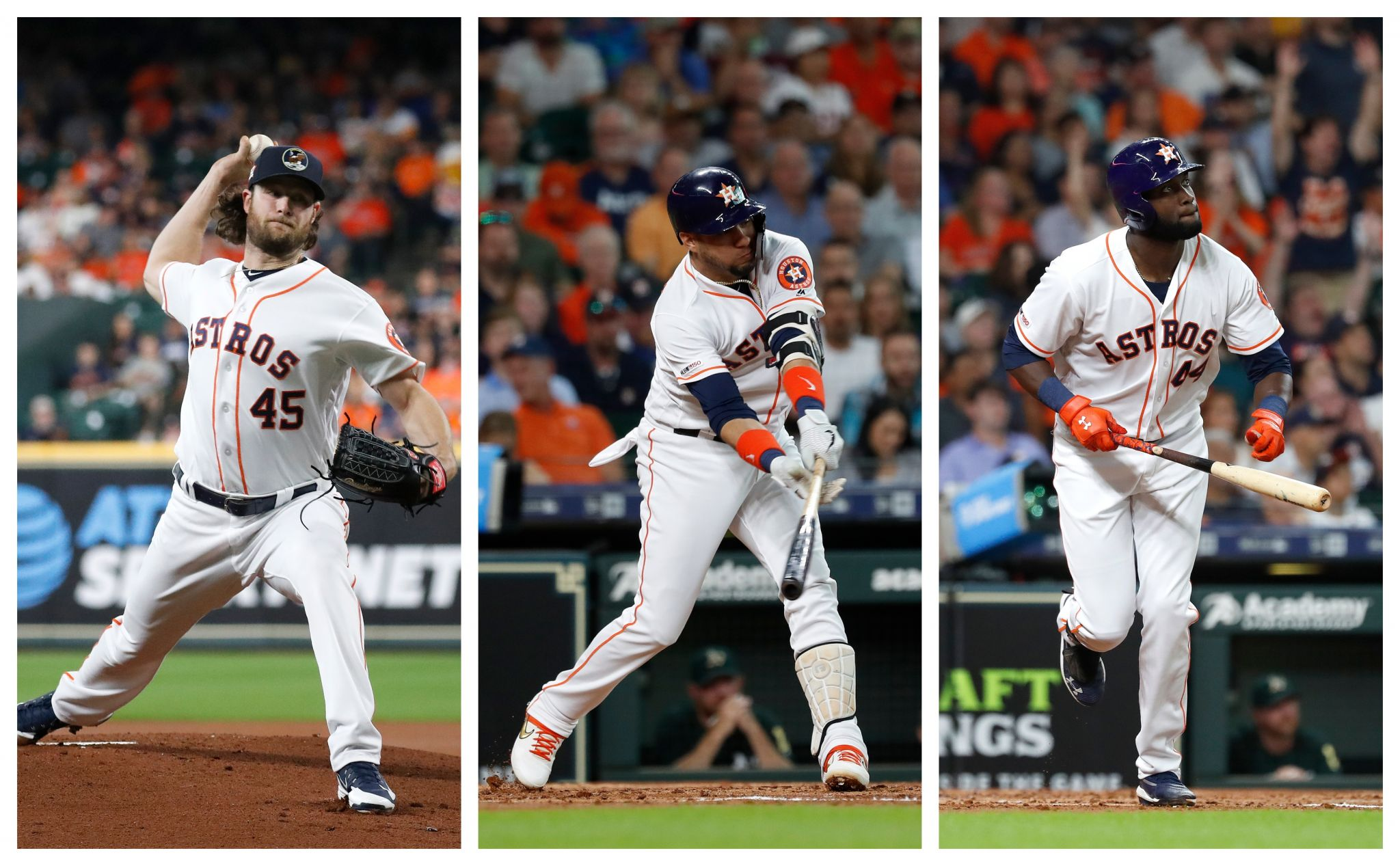 Astros trio gets AL monthly honors for July