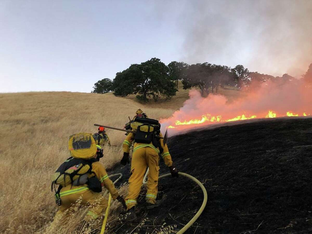 At least eight separate blazed erupted early Saturday morning off Marsh Creek Road and Morgan Territory Road near the Contra Costa County community of Clayton.