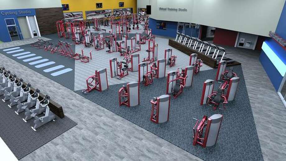Exercise equipment awaits patrons at Club Fitness at 47 Eastgate Plaza in East Alton. The $3.5 million, 30,000-square-foot facility is scheduled to open Aug. 10.