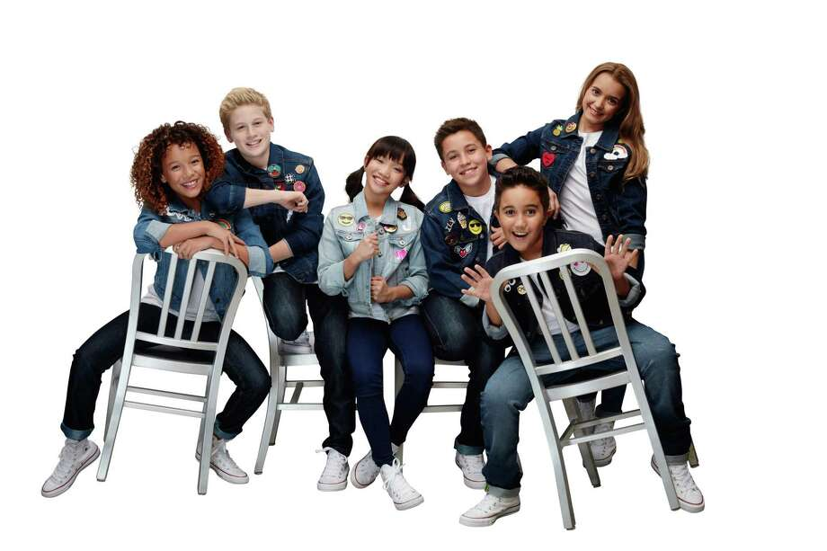 """The """"KIDZ BOP Kids Live Tour"""" in 2017 featured, from left, Ahnya, 12, Cooper, 13, Juliana, 12, Freddy, 12, Isaiah, 10 and Sierra, 12. Photo: KIDZ BOP / Contributed Photo"""