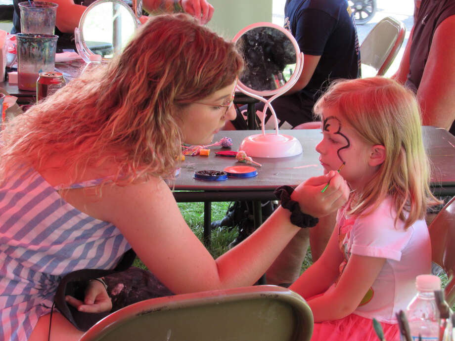 Anna Knopp, 5, gets her face painted at the Riverdays Festival on Aug. 3, 2019 in downtown Midland. (Mitchell Kukulka/Mitchell.Kukulka@mdn.net) Photo: Mitchell Kukulka