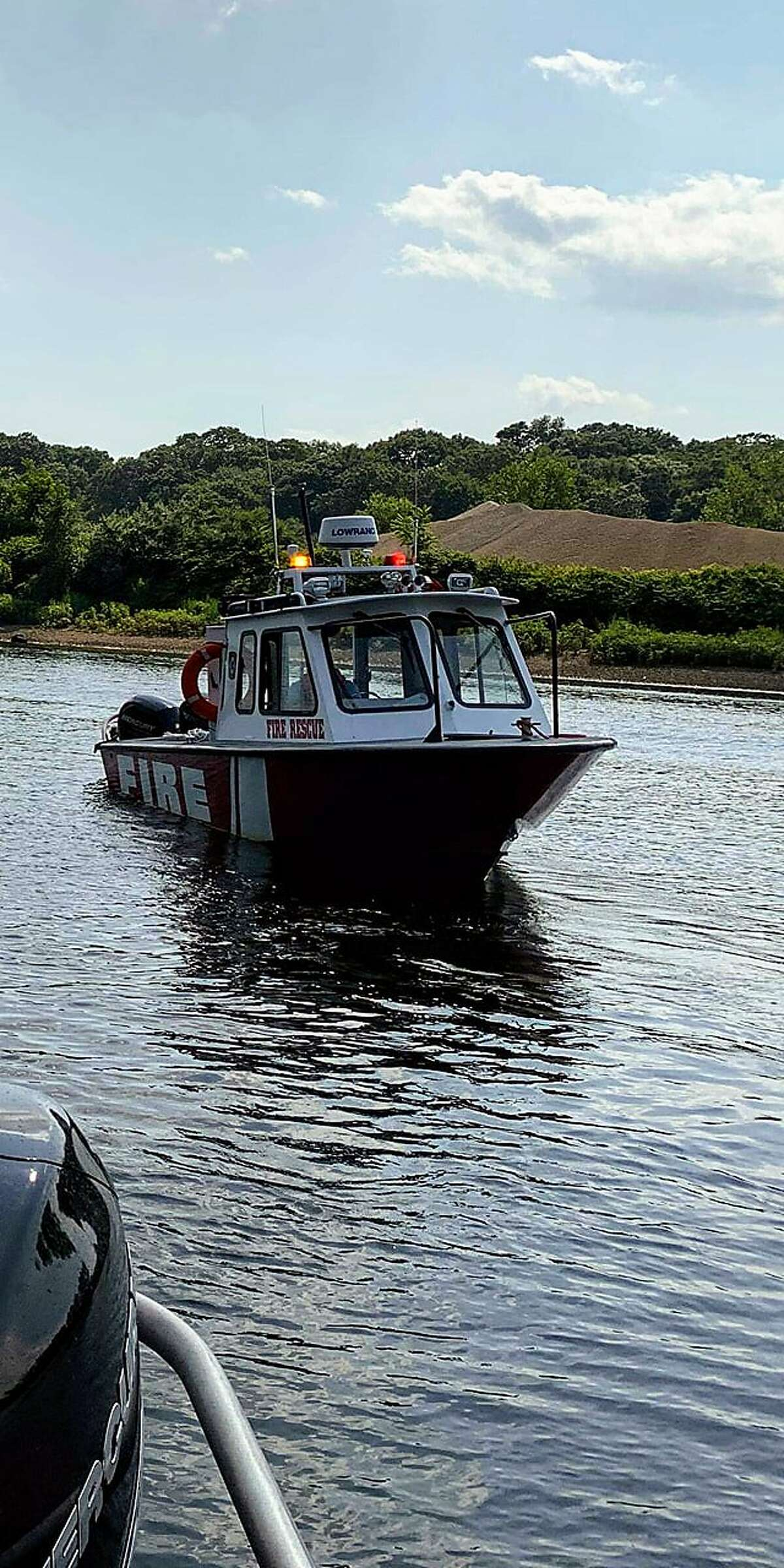 Shelton Fire Department's marine unit responded to a report of a boat taking on water on the lower Housatonic River on Friday, Aug. 2.
