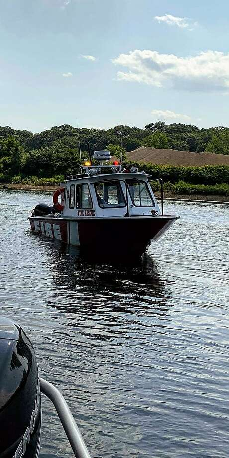 Shelton Fire Department's marine unit responded to a report of a boat taking on water on the lower Housatonic River on Friday, Aug. 2. Photo: Contributed Photo