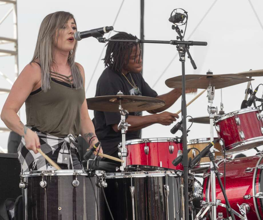 Members of Ledger perform 08/03/19 on the main stage at Rock the Desert. Tim Fischer/Reporter-Telegram Photo: Tim Fischer/Midland Reporter-Telegram