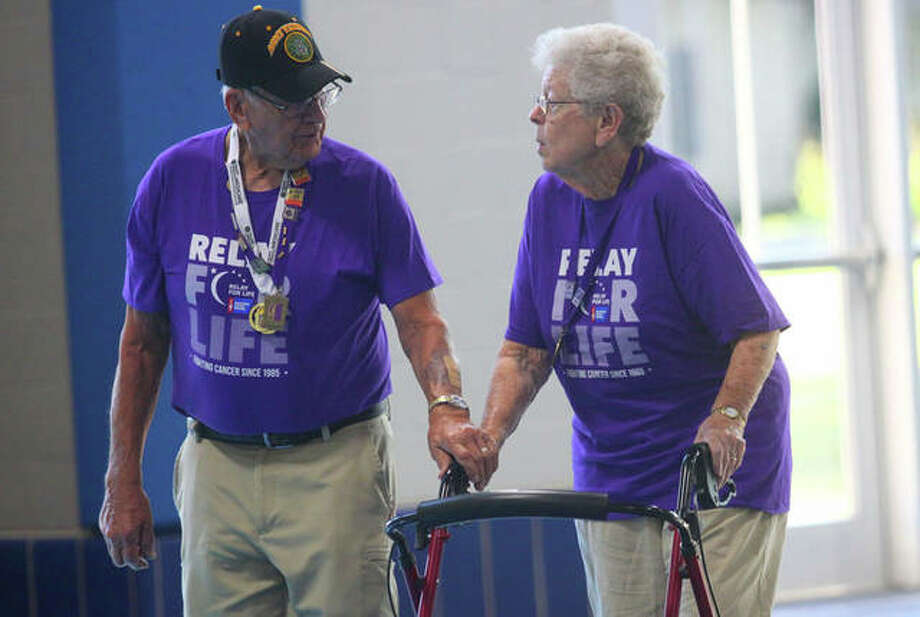 Relay for Life of Tri County raised more than $5,000 Saturday. It has raised close to $28,000 of its $55,000 goal for 2019. The event was held at the Bruner Fitness and Recreational Center on the Illinois College campus. Photo: Rosalind Essig | Journal-Courier