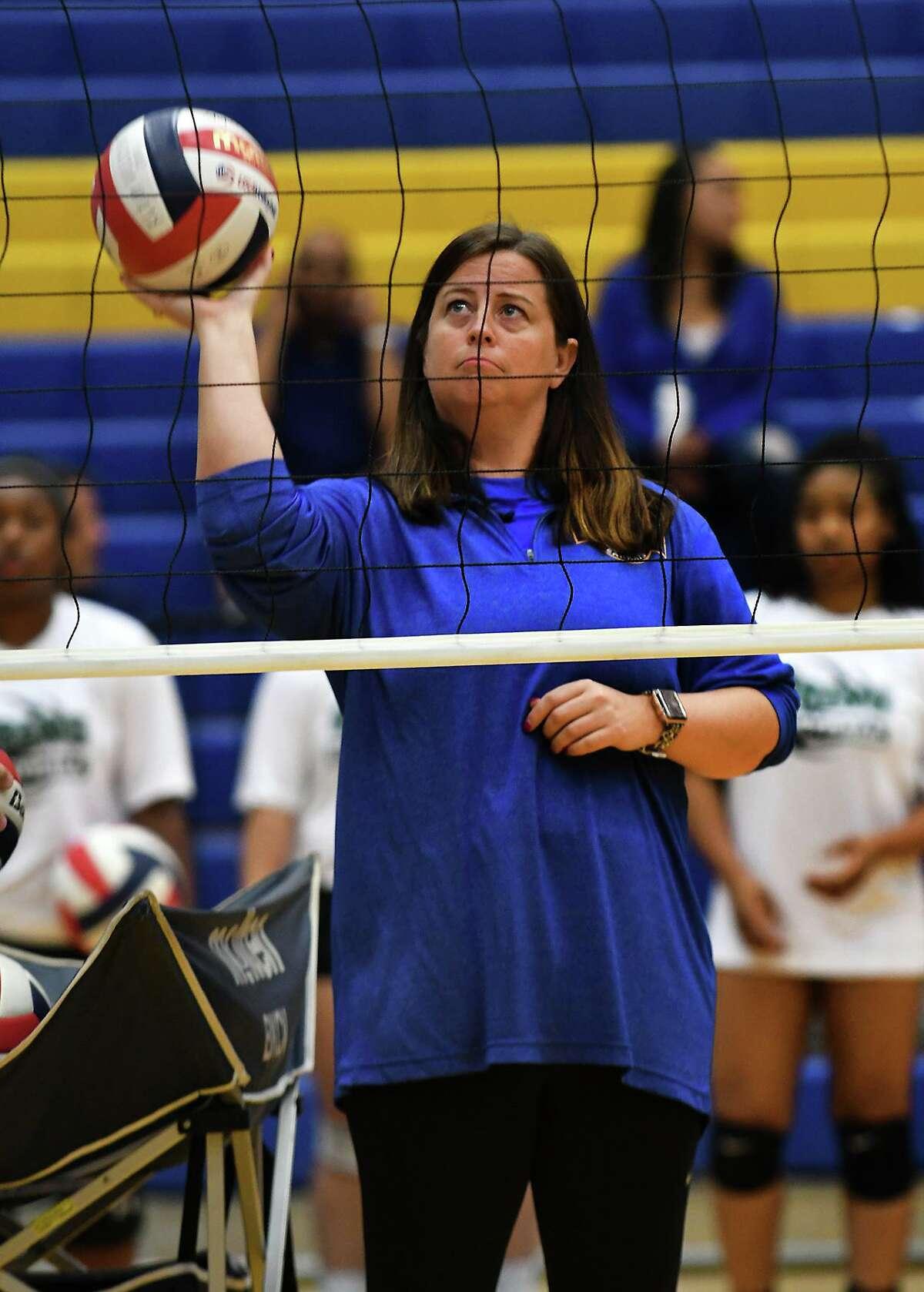 Klein head volleyball coach Kate Zora.