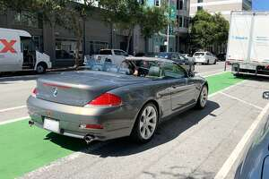 Cyclists on Folsom St. faced more than a dozen bike lane obstacles during on 30 minute observation of of a section of Folsom St.