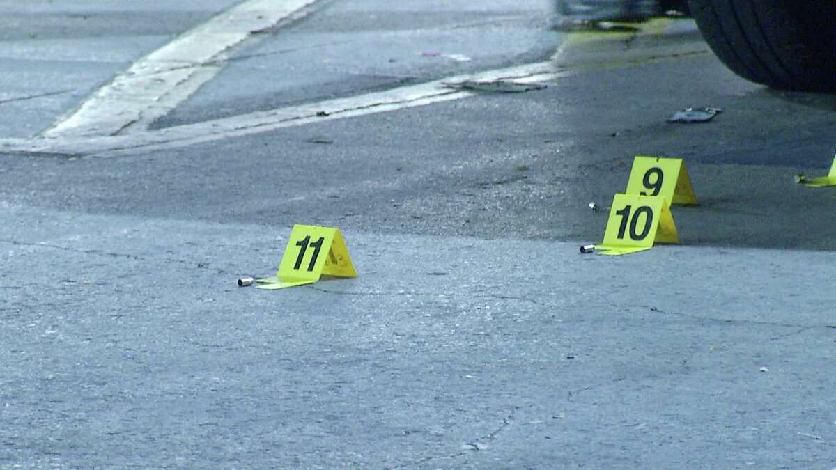 Police say two groups of men in the parking lot of a corner store began shooting at each other about over night Sunday, Aug. 4, 2019. The suspects then fled before police arrived.