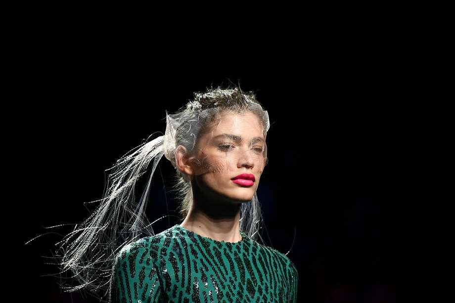 Brazilian model Valentina Sampaio presents a creation from Spanish designer Miguel Marinero's Spring/Summer 2020 collection during the Mercedes Benz Fashion Week in Madrid on July 10, 2019. (Photo by GABRIEL BOUYS / AFP)GABRIEL BOUYS/AFP/Getty Images Photo: Gabriel Bouys, AFP/Getty Images