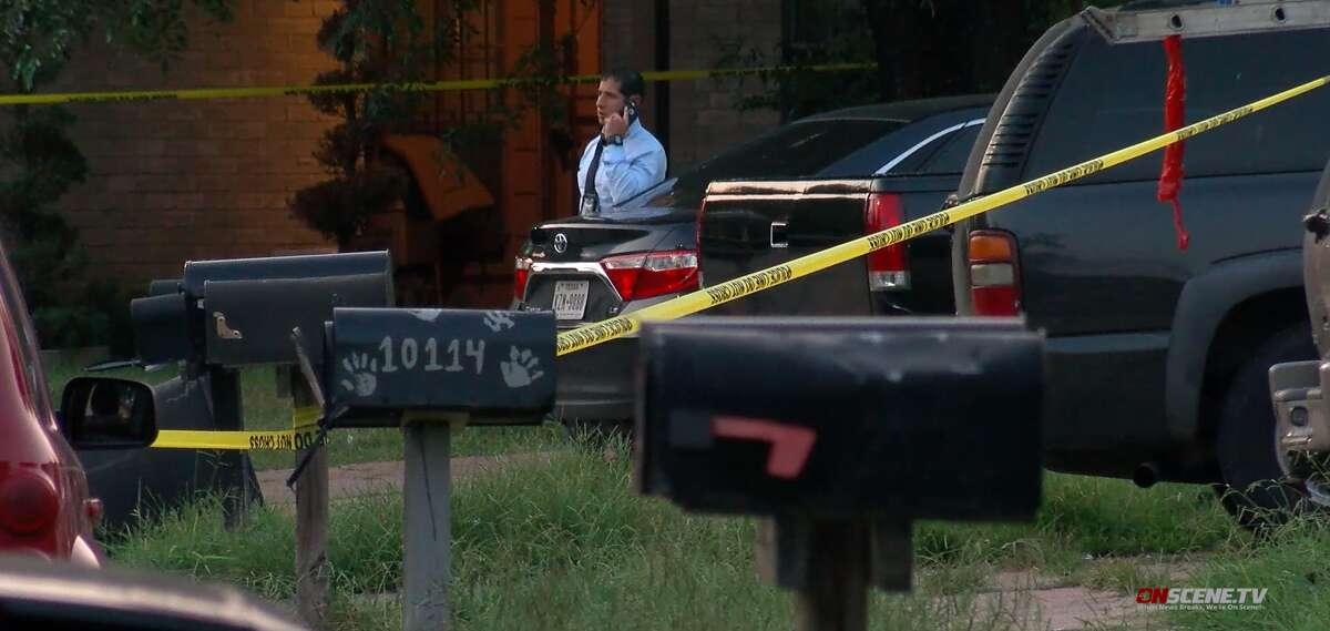 Houston police investigate a homicide Sunday, Aug. 4, in which a woman was found dead and a man was found with multiple gunshot wounds inside a home in the 10100 block of Wild Hollow Lane in northwest Houston.