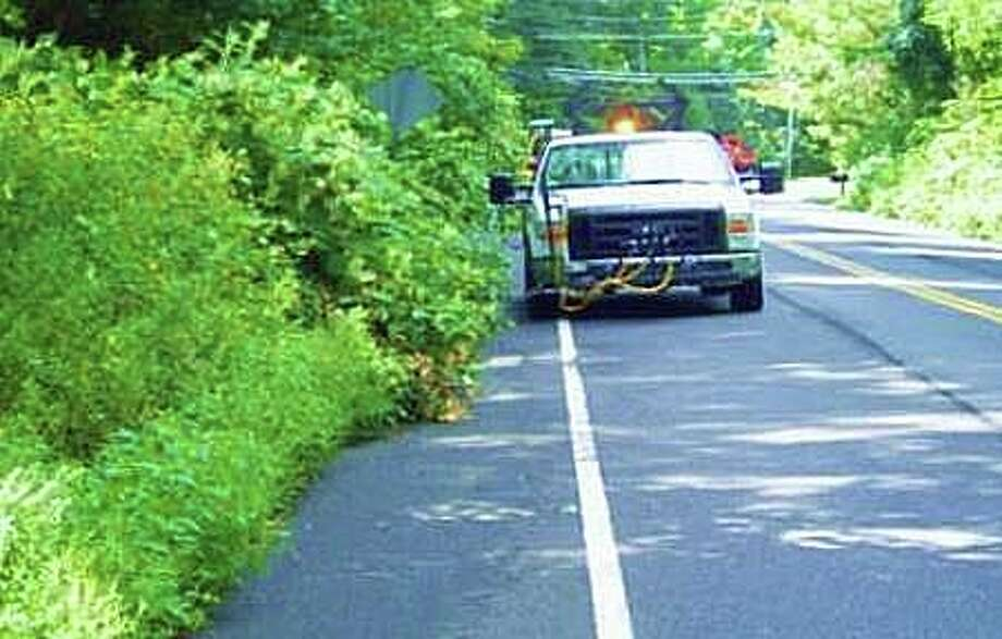The state Department of Transportation said a herbicidal spraying project will be performed under various guide rail locations on secondary routes in towns in eastern Connecticut starting Monday. The project consists of herbicidal spraying on approximately 205 acres. The work will continue through Friday, Aug, 23, 2019. The Department uses herbicides to safely and effectively control the encroachment of vegetation along and under guide rails, signs, and barriers within the state-owned right of way. Photo: State Department Of Transportation Photo