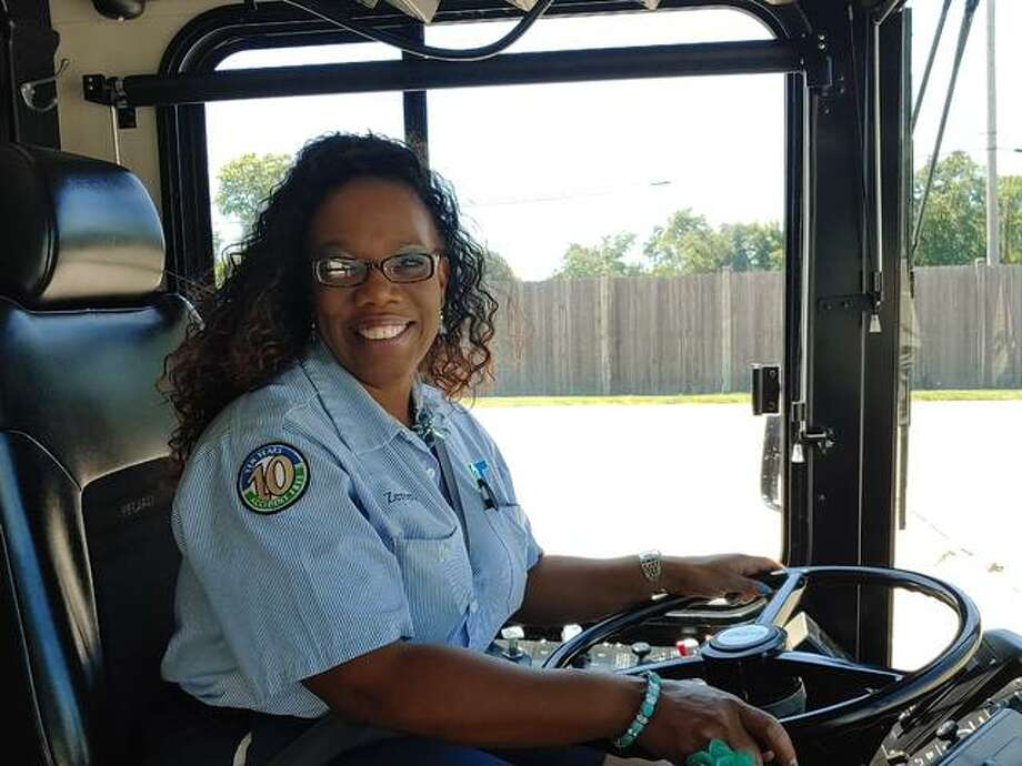 Zereeta Kinney-Lee has worked 22 years for the Agency for Community Transit, the operator of Madison County Transit. ACT is now hiring drivers, fuelers and cleaners. Photo: For The Intelligencer