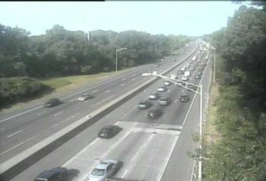 A one-vehicle accident on Interstate 95 southbound that resulted in the closure of the left lane Monday morning has been cleared, according to the state Department of Transportation. Photo: Department Of Transportation