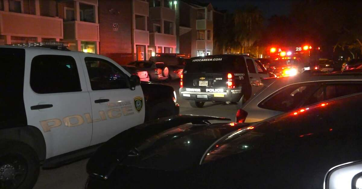 The body of a man was found just steps from the door of an apartment in West Houston early Monday, police said.