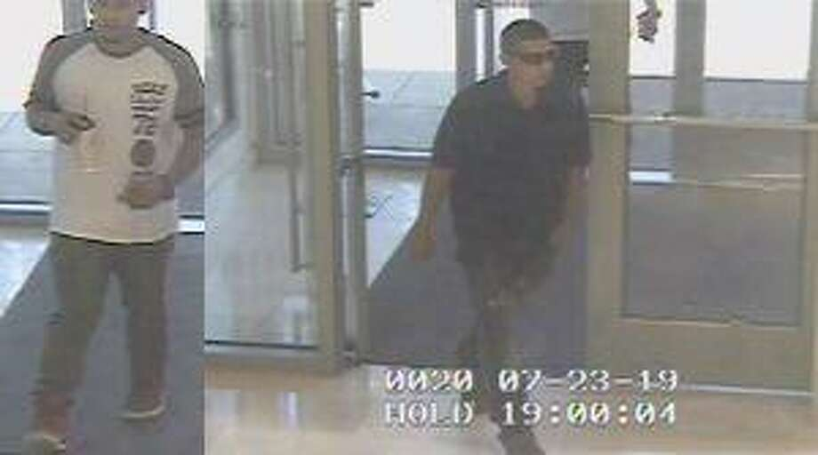 San Antonio police and Crime Stoppers are searching for two suspects that allegedly stole high value purses from a department store at a local shopping mall. Photo: SAPD