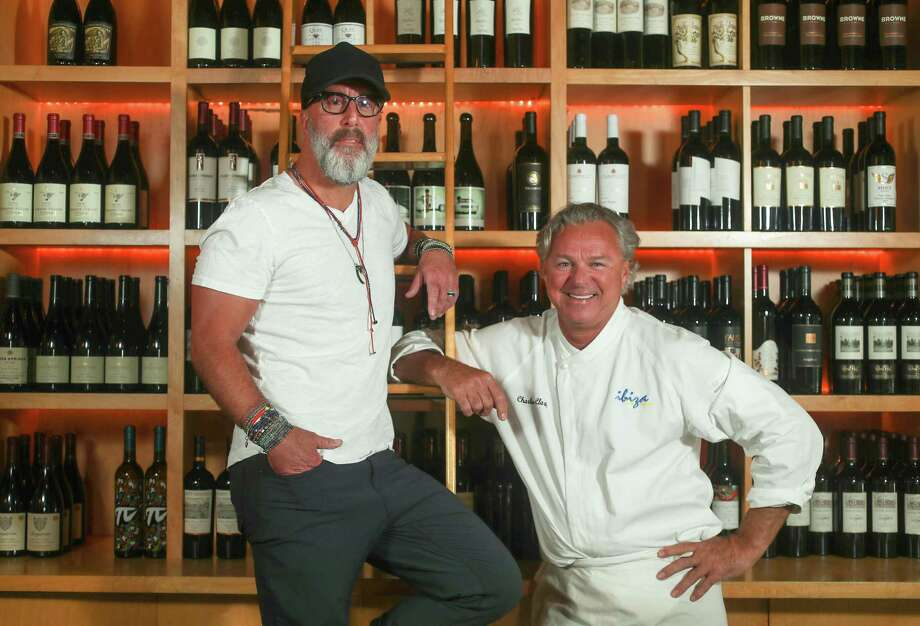 Grant Cooper, left, and chef Charles Clark are the owners of Ibiza in Midtown. They have announced the restaurant is closing in February 2020. Photo: Steve Gonzales, Houston Chronicle / Staff Photographer / © 2019 Houston Chronicle