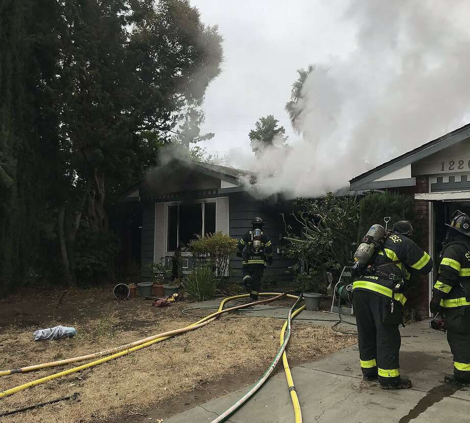 One person died Monday in a fire at 1220 Greenmoor Drive in San Jose, the fire department said. Photo: San Jose Fire Department