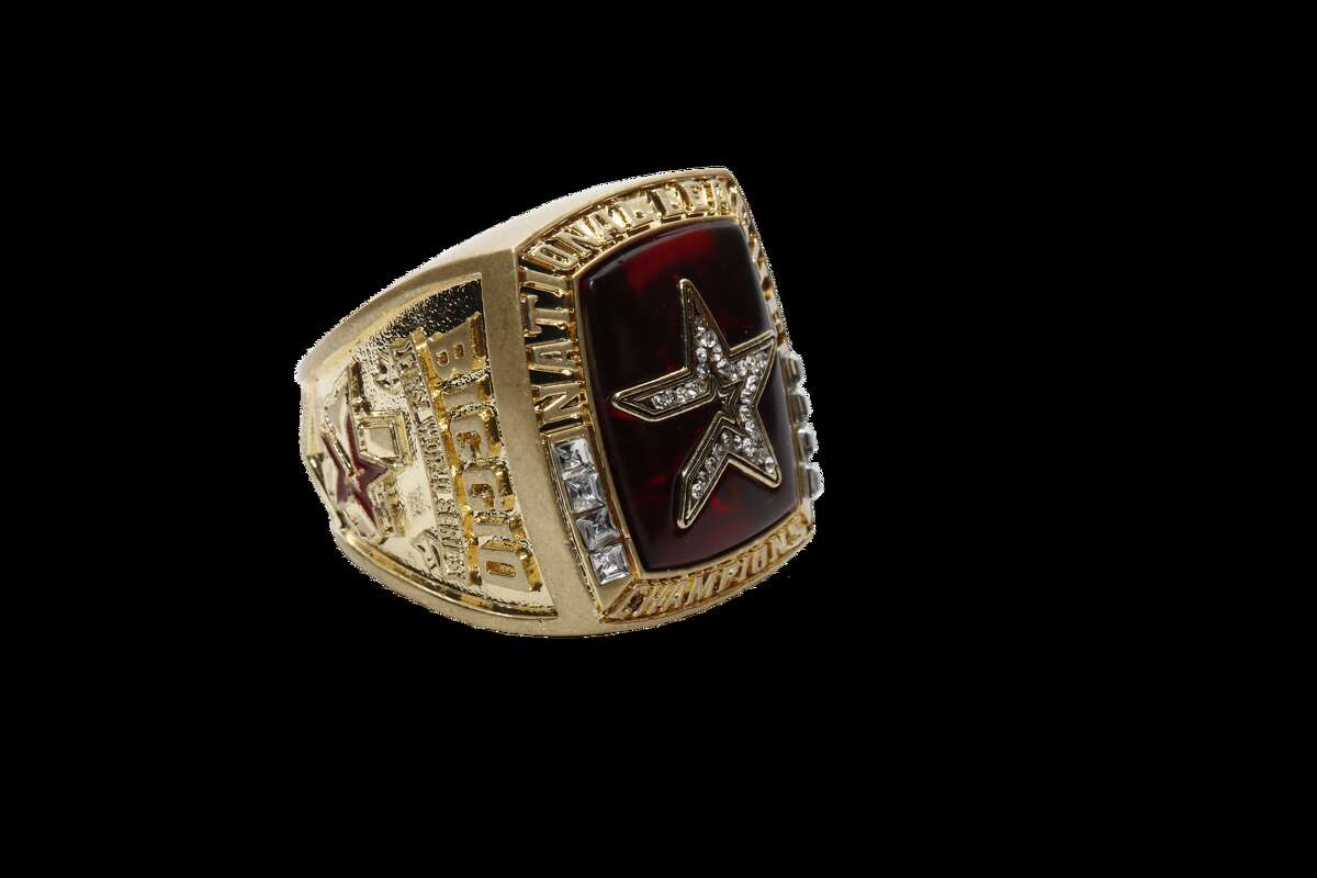 PHOTOS: A look at Astros giveaways the rest of this season All fans attending the Astros game against the Oakland Athletics on Aug. 19, 2019 will receive this replica of Craig Biggio's 2005 National League championship ring.