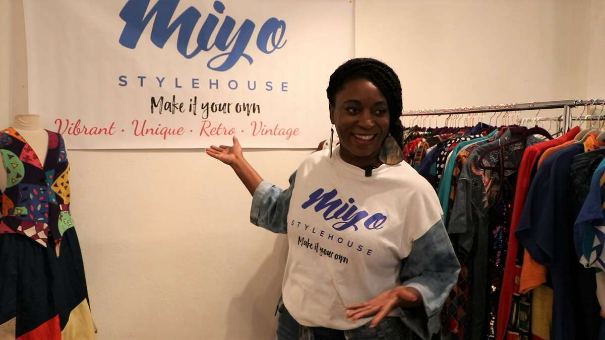 Owner and curator of Miyo Stylehouse, J. Houston, advocates for the re-purposing and re-mixing of retro and vintage clothing.