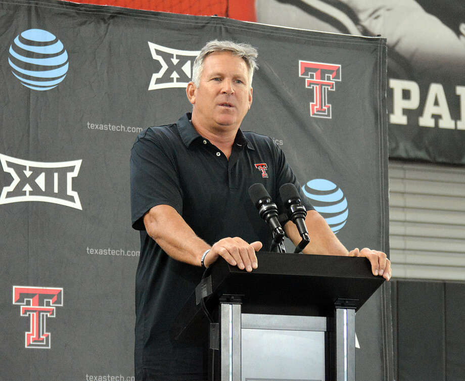 New Texas Tech defensive coordinator Keith Patterson has the task of getting the Red Raiders football team up to speed in their new system at the start of camp. Photo: Nathan Giese/Planview Herald