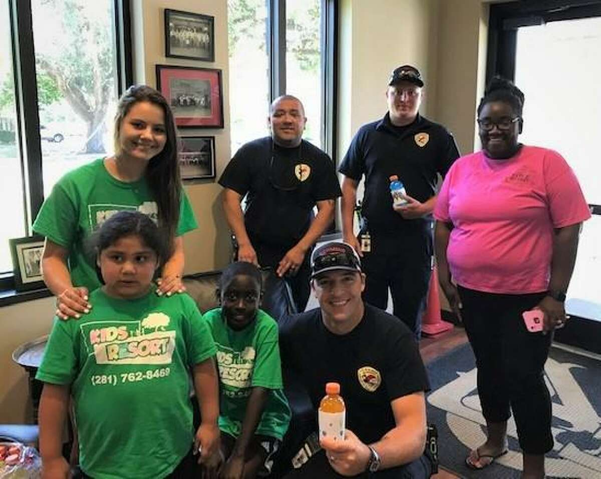 The children at Kids Resort on FM 762 wanted to help Richmond firefighters