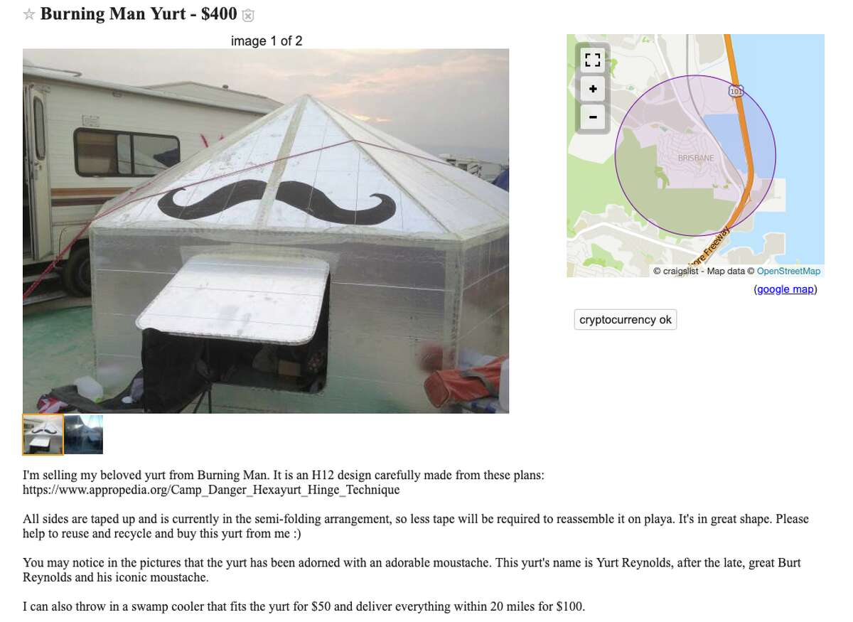 The Most Ridiculous Burning Man Things For Sale On Craigslist