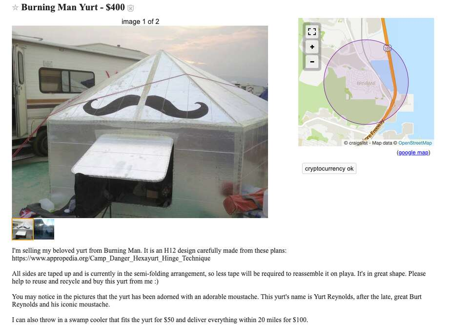 A mustache-wearing yurt