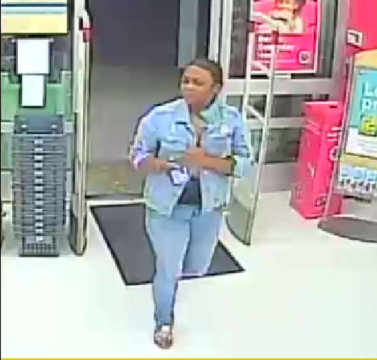 Jefferson County Sheriff's Office is asking the public's help identifying this woman, wanted in connection with the theft of a wallet from a Beaumont skating rink. Photo: August 5, 2019