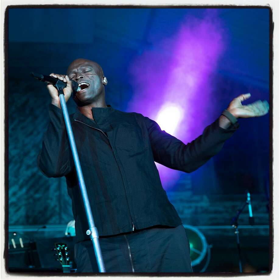 Grammy-winning artist Seal performs at Festival Napa Valley Arts for All fundraiser. July 14, 2019. Photo: Drew Altizer / Drew Altizer Photography