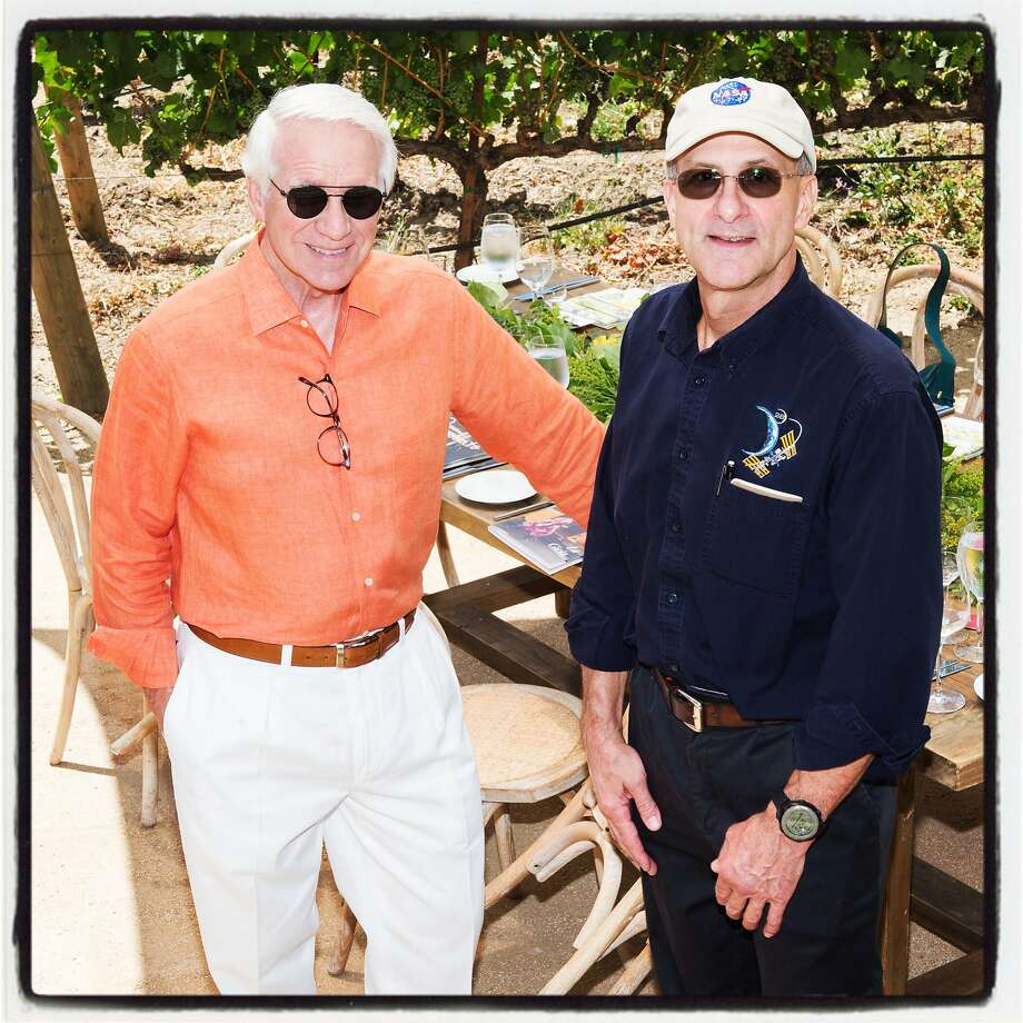 Festival Napa Valley chairman Timothy Blackburn (left) and Astronaut Don Pettit at Luna Vineyards. July 20, 2019. Photo: Drew Altizer / Drew Altizer Photography