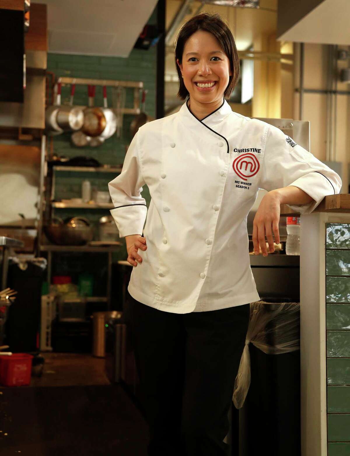 """Houston culinary superstar Christine Ha in her first restaurant, The Blind Goat, at the new Chef Bravery Hall at 409 Travis in the Aris Market Square, downtown. Ha, who won the third season of Fox's """"MasterChef,"""" is blind. Ha gradually lost her vision between 1999 and 2007 due to an autoimmune disease called Neuromyelitis optica."""