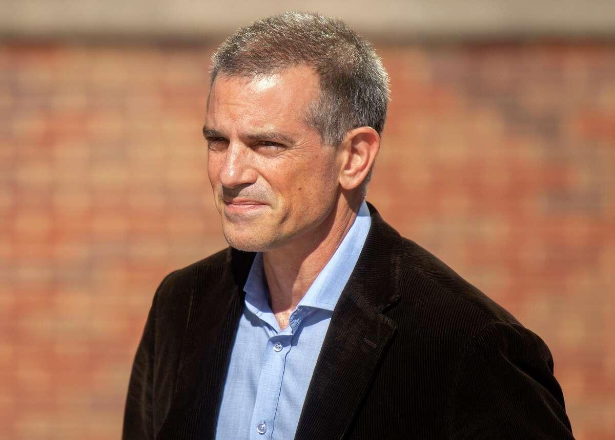 Fotis Dulos walks into state Superior Court in Stamford on June 26.
