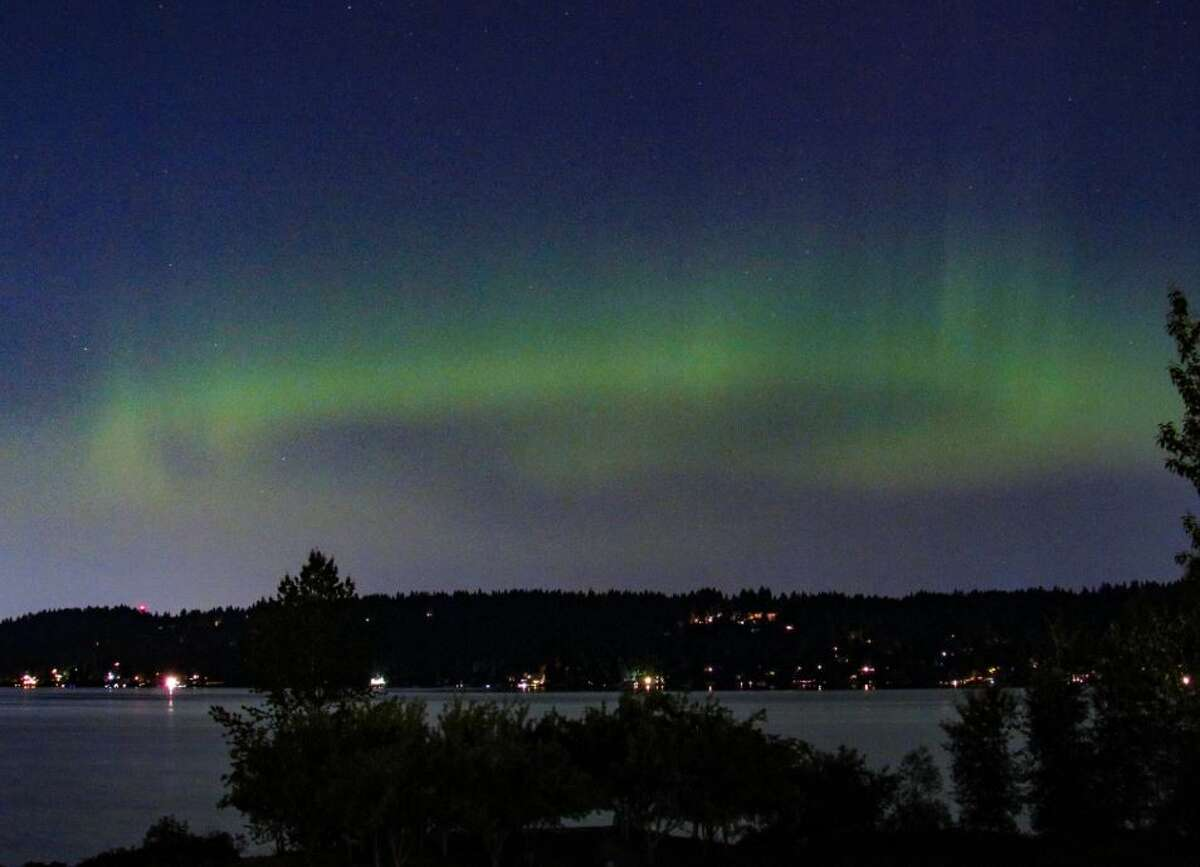 Aurora Borealis as seen over Seattle earlier this year.